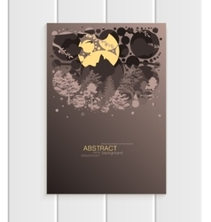 Brochure design business template nature element vector
