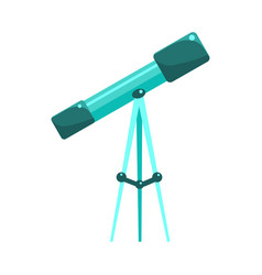 Kids telescope for astronomy studies object from vector
