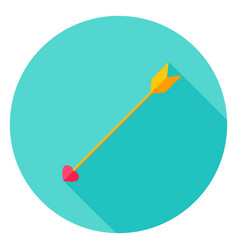 Love arrow circle icon vector
