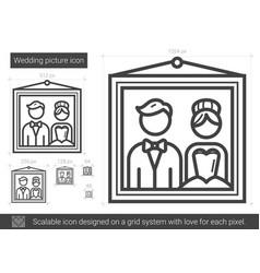 Wedding picture line icon vector