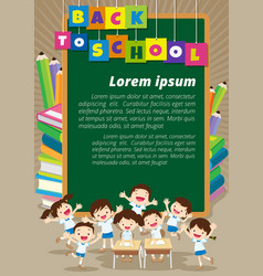 Back to school with happy pupil vector