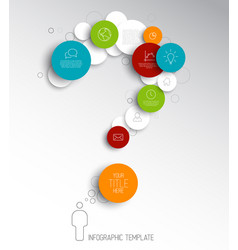 question mark - light abstract circles vector image