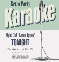 Retro party karaoke background vector