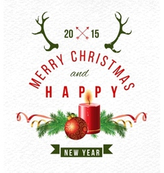 Christmas background with type design vector image