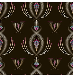 Seamless beautiful antique art deco pattern vector