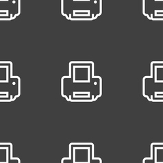 Printing icon sign seamless pattern on a gray vector