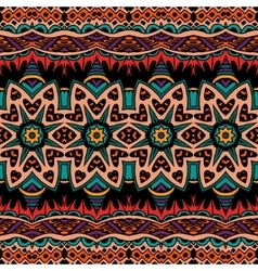 Abstract tribal vintage ethnic seamless pattern vector