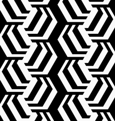 Black and white striped rotated hexagons vector