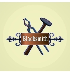 Hand drawn blacksmith labels vector