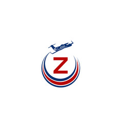 Airplane logo initial z vector