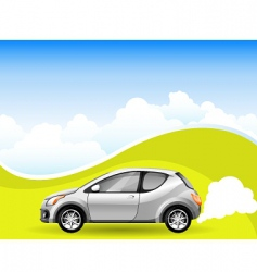 alternative energy car vector image vector image
