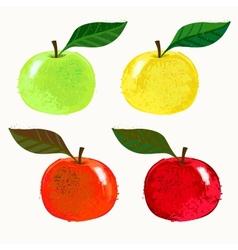 Apple fruits vector