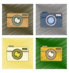 assembly flat shading style icon camera vector image vector image