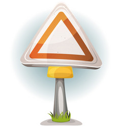 Cartoon blank road sign vector