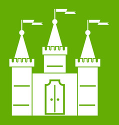 Castle icon green vector