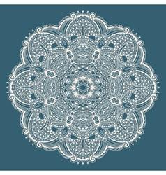 Circle decorative spiritual indian symbol of lotus vector