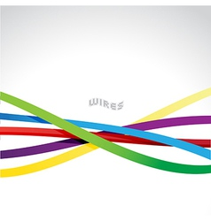 Colorful wires vector image vector image