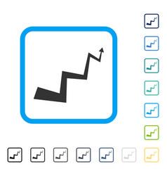 Curve arrow framed icon vector