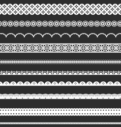 Decorative Lace Borders vector image vector image