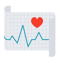 electrocardiography icon vector image vector image
