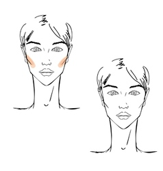 Face chart Makeup vector image vector image