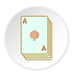 Game cards icon cartoon style vector