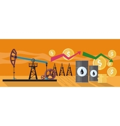 Graphic Changes in Oil Prices Production vector image