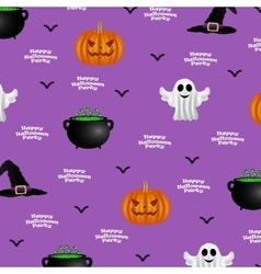 Halloween pattern on a purple background vector
