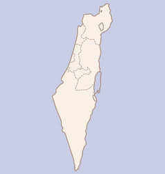 Israel contour map vector