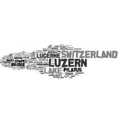 Luzern word cloud concept vector
