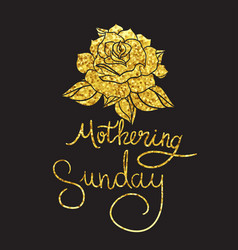 Mothering sunday lettering vector