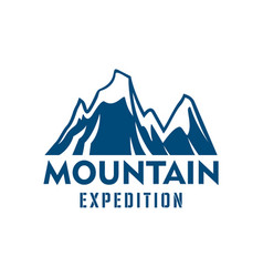 mountain expedition alpine sport icon vector image vector image