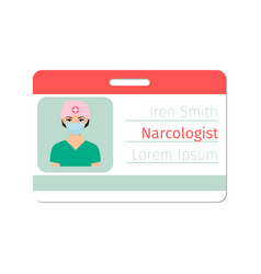 narcologist medical specialist badge vector image vector image
