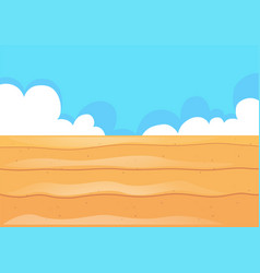 nature scene with desert field vector image