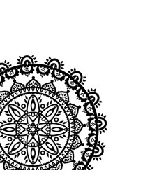 Partial dreamcatcher mandala on white background vector