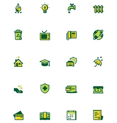 Paying bills icon set vector image vector image
