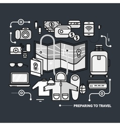 Preparing Travel Necessary What to Pack vector image vector image