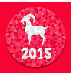 red goat round vector image