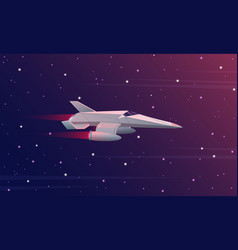 Small spaceship flying in vector