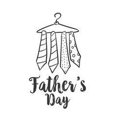 Style design for celebration father day vector