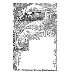 The sirens three is a fairy tale vintage engraving vector
