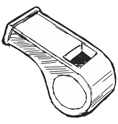 whistle vector image vector image