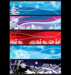 Winter snowflakes ornaments vector