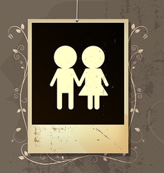 Nostalgia of couples love vector
