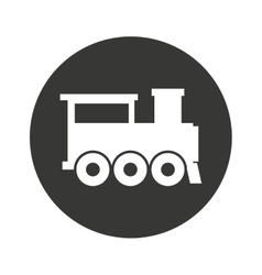 Train transport public isolated icon vector