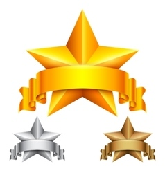 Star Award with Ribbon vector image