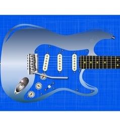 Blue Grunge Guitar vector image