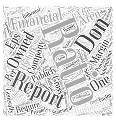 How to analyze a financial statement word cloud vector