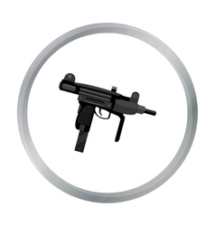 Uzi weapon icon cartoon single weapon icon from vector
