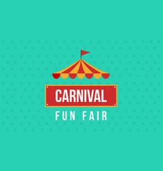 Carnival fun fair theme design vector